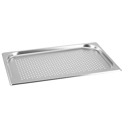 GN Behälter Gastronorm 1/1 20 mm gelocht/perforiert aus Edelstahl GVK ECO