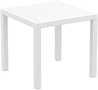 Alterego - Table de terrasse 'CANTINA' design en matière plastique blanche