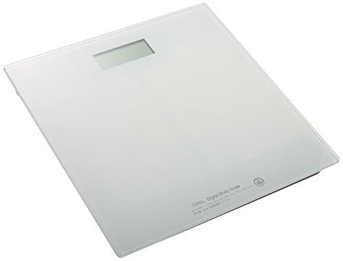 オーム電機 デジタル体重計OHM_HBK-T100-W 08-0065