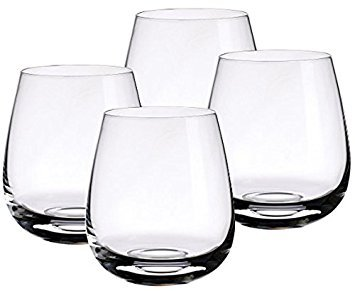 Whiskey Glass Set of 4 - Best Whiskey Set for Christmas Gifts, Office Parties, Birthdays & Weddings. Classic Design for Timeless Elegance by Deluxe Barware Glasses