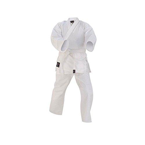 Prime Sports Karate-Anzug für Kinder, 100% Baumwolle, mit Gürtel, weiß, 2-150