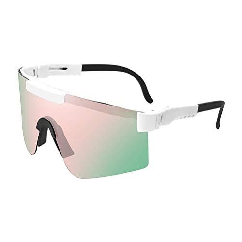 ZARQ Gafas Ciclismo, UV400 Gafas de Sol Hombre Mujer Gafas de Sol Ciclismo Al Aire Libre Gafas de Sol Deportivas Polarizadas a Prueba de Viento para Hombre Mujer Ciclismo Pesca Conducción Esquí