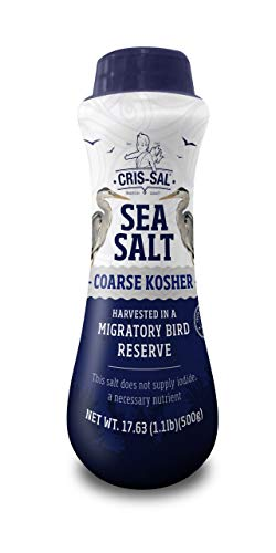 Cris-Sal Gourmet Kosher Sea Salt - Coarse Diamond Crystal Full Flavor Natural Grain Salt - Great for Cooking, Table Seasoning Recipes, Finishing and More, Pantry-Friendly - 17.63 Oz - Pack of 1