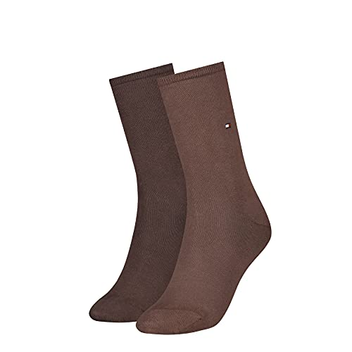 Tommy Hilfiger Womens Casual Women's Classic Sock, Brown, 39/42