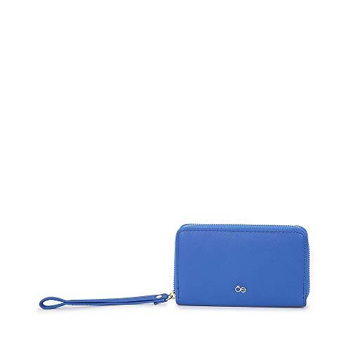 Cloe - Cartera con Cierre Sencillo Color Azul para Mujer