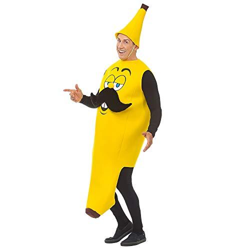 WIDMANN Srl disfraz de plátano para adulto, Multicolor, wdm68585