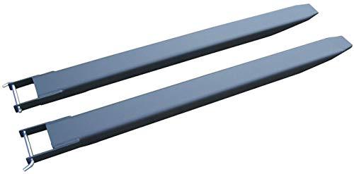 1 Paar 200cm Gabelverlängerung für Stapler Frontlader Zinkenverlängerung Schwarz
