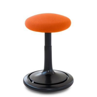 Ongo® Seat Hocker schwarz/orange