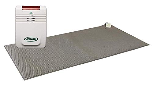 Smart Caregiver Cordless Monitor with Cordless 24in x 36in Gray Floor Mat - Get to Them so They Don't Walk Alone!