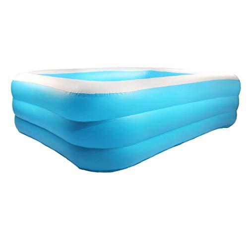 Nicetruc Engrosada Kiddie Piscina Rectangular Piscina para niños Piscina Inflable de la Nadada del Barco de cruceros en Forma de Piscina para el jardín Patio Trasero Azul Interior y Exterior de 18 m