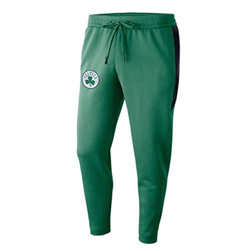 rzoizwko Poliéster Hombres Boston Celtics Pantalones Deportivos Sueltos microelásticos Pantalones de Jogging Informales Pantalones de Entrenamiento