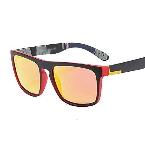 Hanpiyignstyj Gafas De Sol, Gafas de Sol cuadradas polarizadas de Moda Damas Retro Gafas de Sol Damas (Color : Yellow)