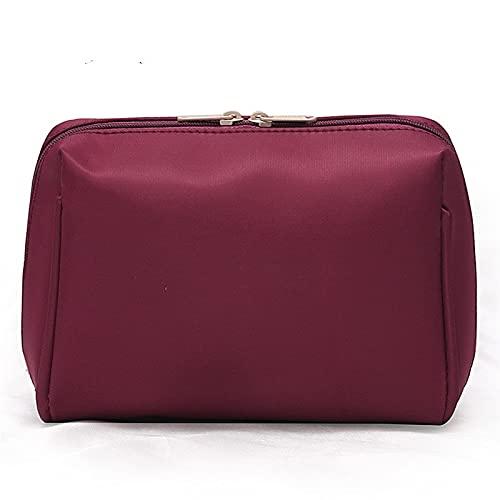 Multifunción Mujeres cosméticos bolsas de viaje maquillaje bolsas sólidas Moda para mujer maquillaje bolsa de maquillaje necer organizador kits bag para niñas estuche cosmético ( Color : Wine red )