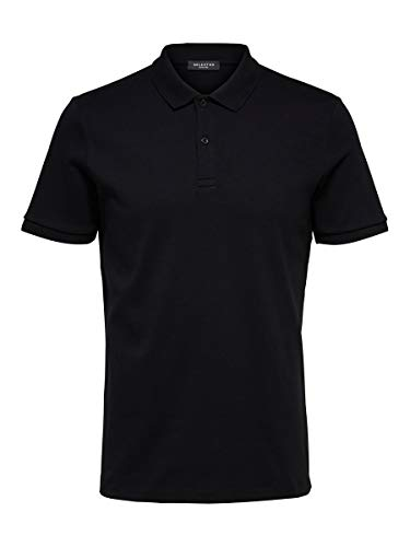 SELECTED HOMME Male Poloshirt Regular Fit MBlack