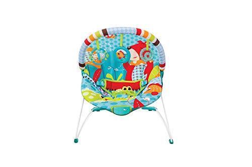 Cadeira De Descanso Musical E Vibratória Urso, Mastela, Azul, Médio