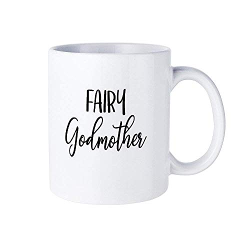 Taza de café 182, taza de cerámica para madrina de hada y madrina de 325 ml para el hogar y la oficina, cumpleaños, aniversario, Halloween, Navidad, regalo del día de San Valentín.