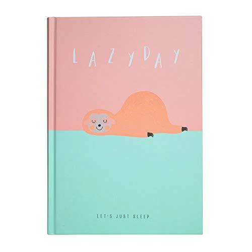 "Caderno A5 Capa Dura - Bicho Preguiça""Lazy Day"", SL-190015"