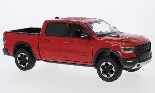 Unbekannt Dodge RAM 1500 Crew Cab Rebel, rot, 2019, Modellauto, Fertigmodell, Motormax 1:24