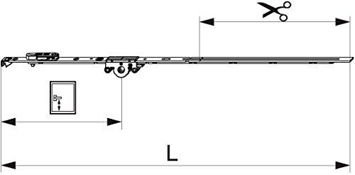 MACO MM DK-Getriebe fix, DM 15 mm, FFH 431-660 mm (201732) ; 1 Stück