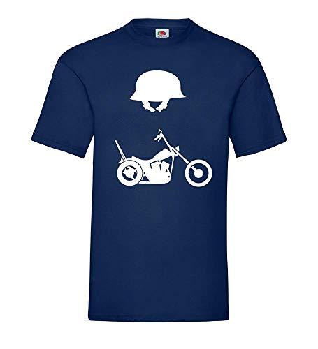 Chopper en helm mannen T-shirt - shirt 84.de