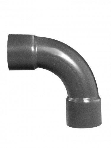 PVC-Bogen 90°, 2x Klebemuffe, 32 mm