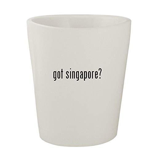 got singapore? - White Ceramic 1.5oz Shot Glass