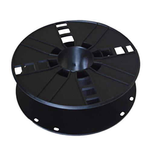 LIOOBO Cable de plástico Cable de Almacenamiento Carrete de Cable Organizador Cable Tidy Reel para Acampar Caravana o Autocaravana Negro