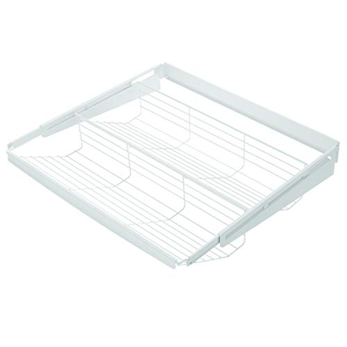 Lomani 5-Shelf Adjustable Utility Shelf, Storage Rack, Organizer Shelf, 5-tier storage shelf, book shelf-White