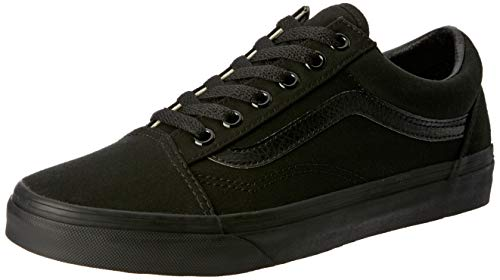 Vans Old Skool, Zapatillas de lona unisex, Negro (Black/Black Canvas), 37 EU
