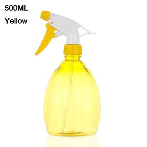 shihao159 250/500ml Snoep Transparant Make-up Vocht Kappers Gereedschap Thuis Woonpomp Fijne Mist Tuin Waterplanten Spray Fles Water Sprayer (500ML,geel)