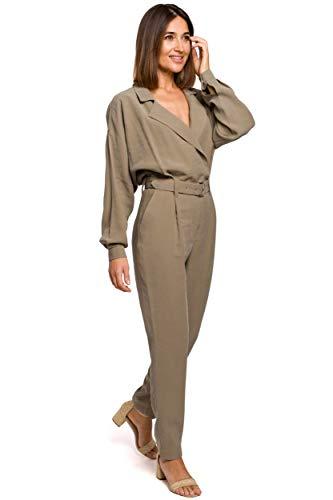 Stylove Fashion Utility Jumpsuit - Khaki, 40   L