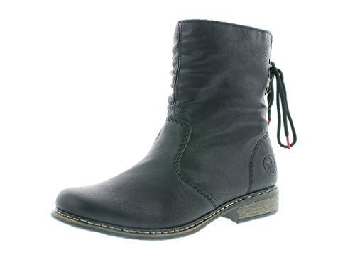 Rieker Damen Stiefeletten, Frauen Klassische Stiefelette, Freizeit leger Stiefel Boot halbstiefel damenstiefel Bootie Lady,schwarz,38 EU / 5 UK