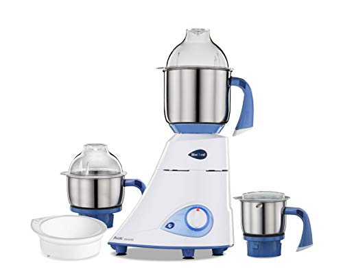 Preethi Blue Leaf Diamond Mixer Grinder, 750W, 3 Jars (Blue/ White)