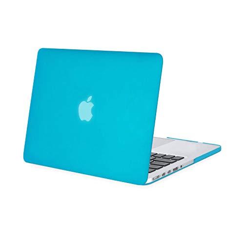 MOSISO Funda Dura Compatible con MacBook Pro 13 Retina A1502 / A1425 (Versión 2015/2014/2013/fin 2012), Ultra Delgado Carcasa Rígida Protector de Plástico Cubierta, Aguamarina