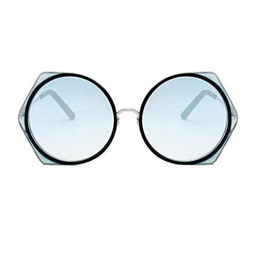 Mike Wodehous Marco de Metal Lente de PC Gafas de Sol de protección UV for Mujeres Lente Colorida de señora Gafas de Sol de conducción Diseño de Verano Marco Elegante Gafas de Sol Redondas de señora