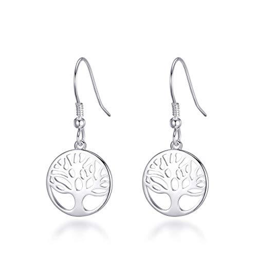 Sterling Silver Tree of Life Drop Earrings