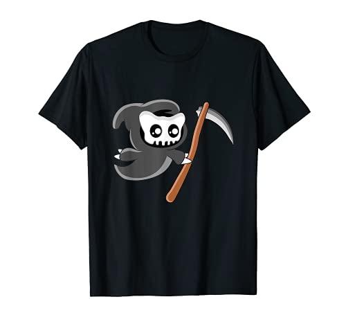 Lindo gato segador de Halloween Camiseta