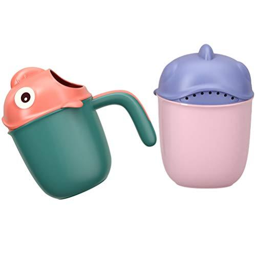 TOYANDONA 2 Stück Saubere Baby Shampoo Spülbecher Kinder Spülbecher Baby Bad Spüler Waschkopf Tasse Tragbare Badebecher