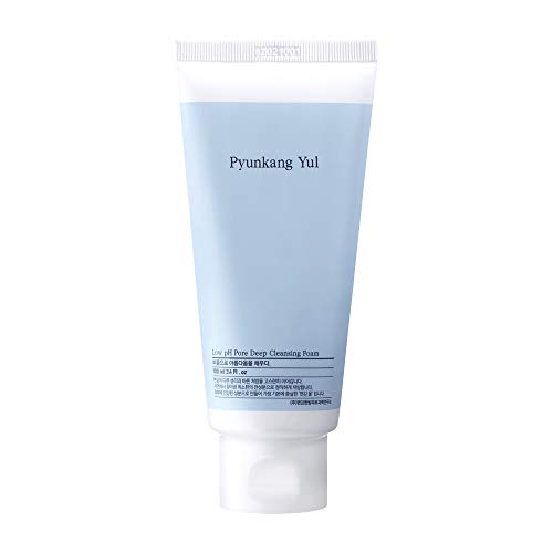 PYUNKANG YUL Low pH Pore Deep Cleansing Foam - 2 Step Solution Korean Facial Wash - Makeup Remover Face Cleanser with Witch Hazel, AHA - Cica, Tea Tree Extract - Rapid Moisture replenishment 3.4 Fl Oz