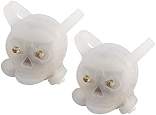 ef8a3ff495a DealMux plástico da Bicicleta Habitação Esqueleto Humano Segurança Design  Luz traseira 2pcs Branco