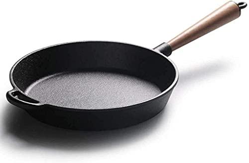 Woks y Sartenes para freír Sartén sin palanca sartén wok uso multiusos múltiple sartén utensilios de cocina inducción hierro sartén sartén pan fácil limpiar freying sartén
