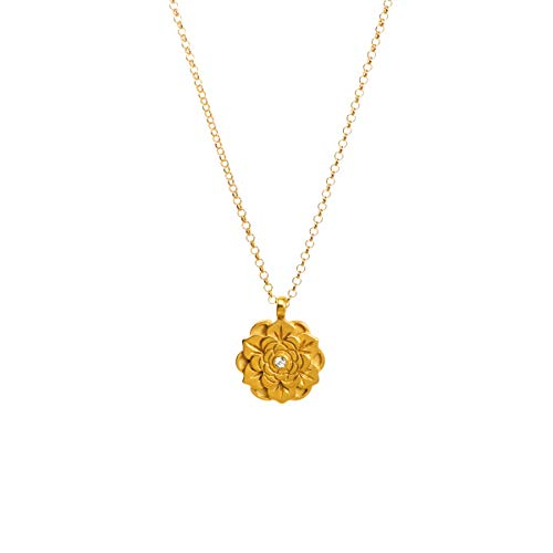 Dogeared Happy Graduation 2020 Gold Dipped Flower Lotus Necklace