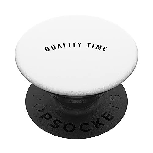 Quality time PopSockets PopGrip: Agarre intercambiable para Teléfonos y Tabletas