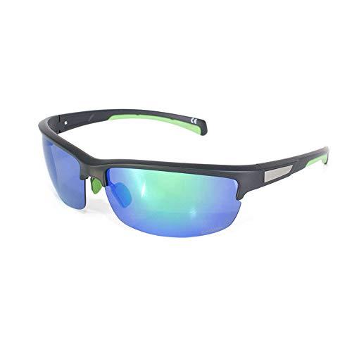 Skoda MVF10-911 Sonnenbrille mit Polgläsern Sport Brille, schwarz/grün