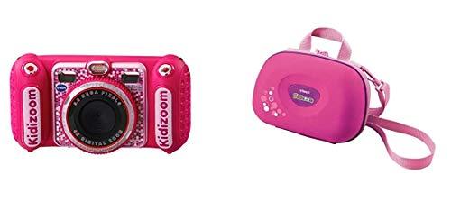 Vtech Kidizoom Duo DX Kinderkamera, pink & 80-201853 - Kidizoom Tragetasche, rosa
