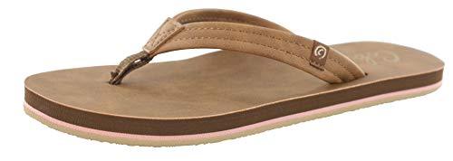 Cobian Women's Pacifica Tan Flip Flops, 6