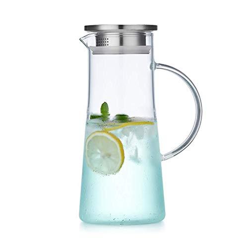 LIDANDANSHUIHU Glaskrug, Eisteekanne, große Wärmekapazität und langlebiges Gut geeignet für Eistee-Kaffee-, Milch- und Saftflaschen Restaurant (Size : 14.3×25×9cm)
