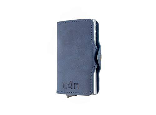 Porta Carte Di Credito Cash4next® Portafoglio Uomo E Donna Porta Documenti Idee Regalo Blocco RFID Anticlonazione Schermato Alluminio Sottile Leggero (blue)