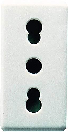 Gewiss GW20203 System Presa Frutto, 2P+T, 16 A Bivalente, Bianco