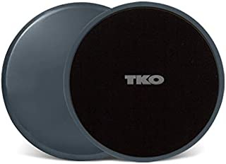TKO Exercise Sliders - 2 Discs – Dual Sided Glide Discs - for Hardwood Floors & Carpet- Ab, Glutes & Core Workouts